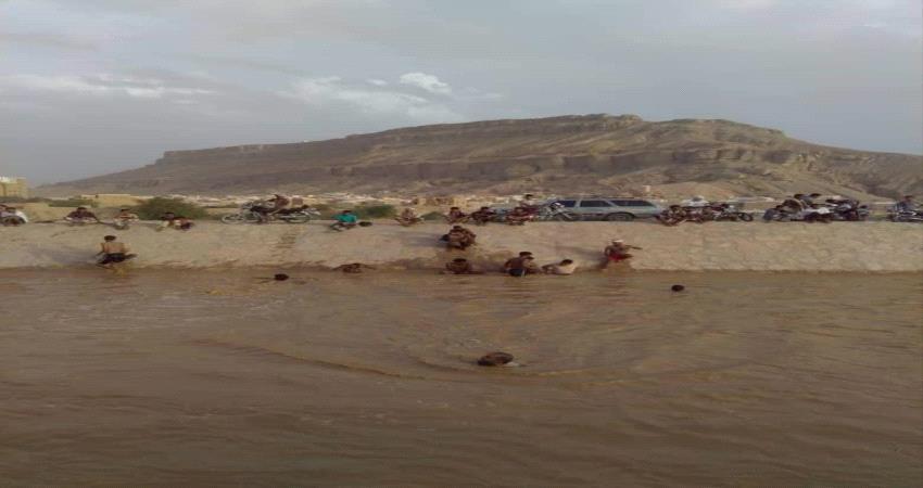 فقدان شاب جراء سيول الأمطار بشبام #حضـرموت